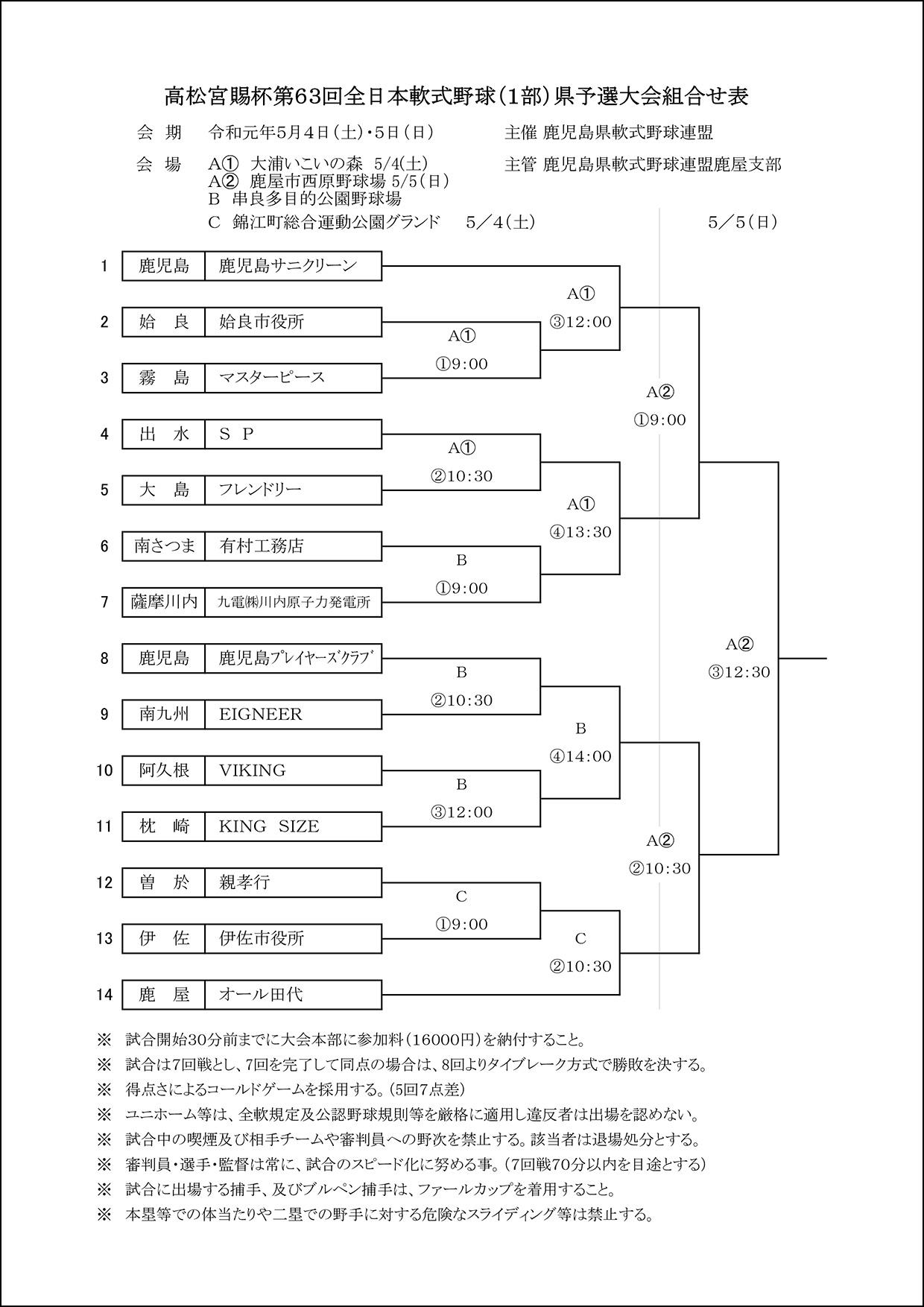 【訂正】第63回高松宮1部組合せ表